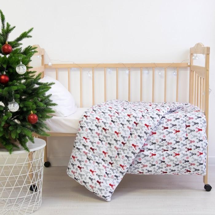 Одеяло Этель «Рога», 110 × 140 см, 100 % хлопок, фланель - фото 105554825