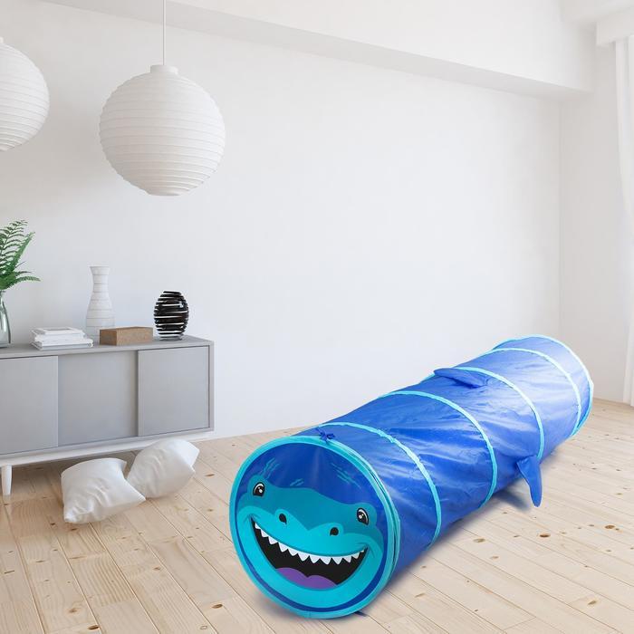 Детский туннель «Акула», цвет синий
