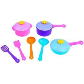 Набор посуды столовый «Ромашка» 10 предметов, МИКС