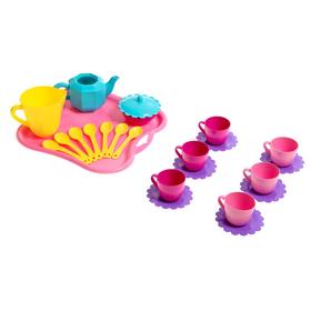 Детская посудка 'Ромашка', набор 24 предмета, цвета МИКС Ош