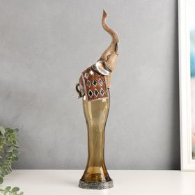 """Сувенир полистоун, стекло световой """"Королевский слон"""" 46,5х13х8 см"""