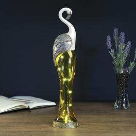 """Сувенир полистоун, стекло световой """"Фламинго"""" 42,5х9х6,5 см"""