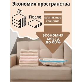 Вакуумный пакет для хранения одежды «Роза», 70×100 см, ароматизированный - фото 4640197