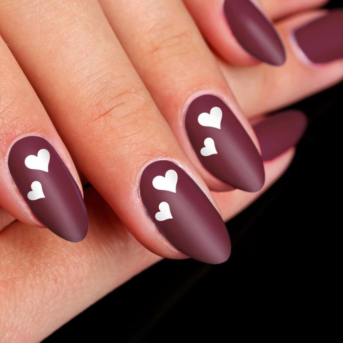 """Трафареты для ногтей """"Сердечки"""", 10шт"""