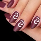 """Stencils for nails """"Arc"""", 10 pieces on the substrate"""