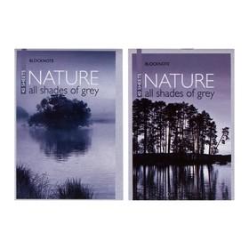 Блокнот А6, 40 листов на скрепке «Природа», МИКС