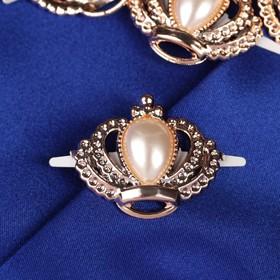 Декоративные элементы на прокол «Короны», 4 × 3,5 см, 10 шт, цвет золотой