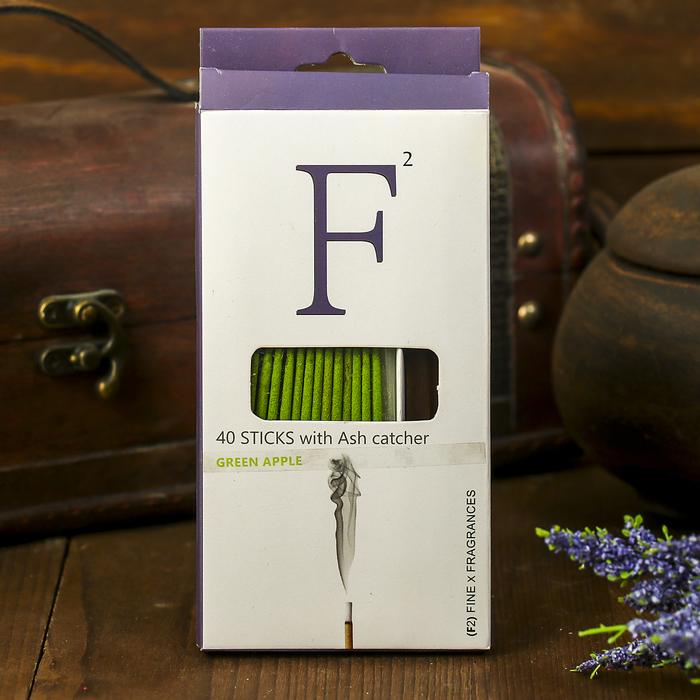 """Ароманабор """"F2"""" 40 палочек и подставка Зелёное яблоко"""