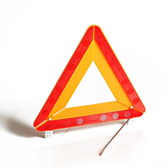 Знак аварийной остановки, цинковая опора, в коробке
