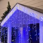 БАХРОМА уличная, УМС, Ш:3м, В:0.9м, Н.Б. 3W LED(IP65-O)-232-220V, СИНИЙ