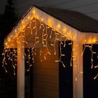 """Гирлянда """"Бахрома"""" уличная, УМС, 3 х 0.6 м, 2W Каучук LED(IP65)-160-220V, свечение жёлтое"""