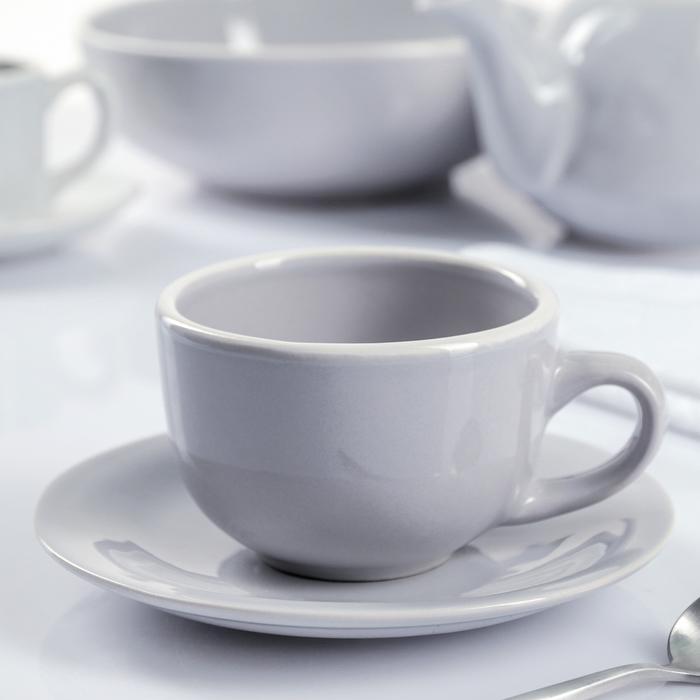 """Чайная пара 200 мл """"Зимнее утро"""", блюдце 15 см - фото 171807142"""