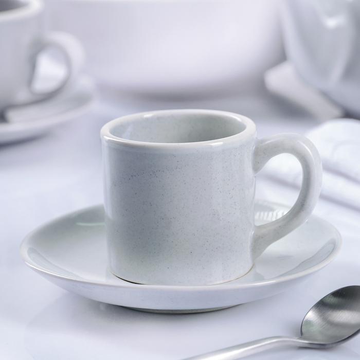 """Кофейная пара 100 мл """"Зимнее утро"""", блюдце 13,5 см - фото 253101504"""