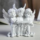 """Сувенир полистоун """"Три белоснежных ангела с книгой"""" 16х16,5х8 см"""