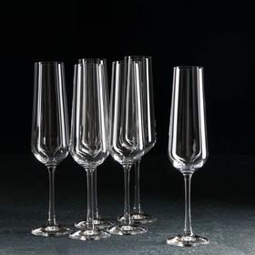 Набор бокалов для шампанского «Сандра», 200 мл, 6 шт