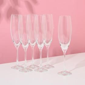 Набор бокалов для шампанского Bohemia Crystal «София», 230 мл, 6 шт