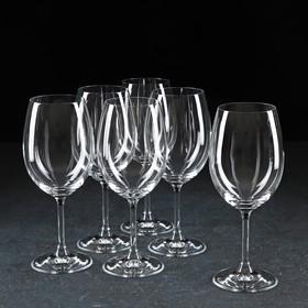 """Набор бокалов для вина 450 мл """"Лара"""", 6 шт"""