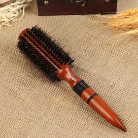 Брашинг, комбинированная щетина, d = 6 см, цвет «тёмное дерево»