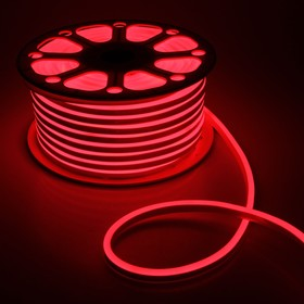 Flexible neon light 8 x 16 mm, 50 meters, LED-120-a SMD2835, 24 V, RED