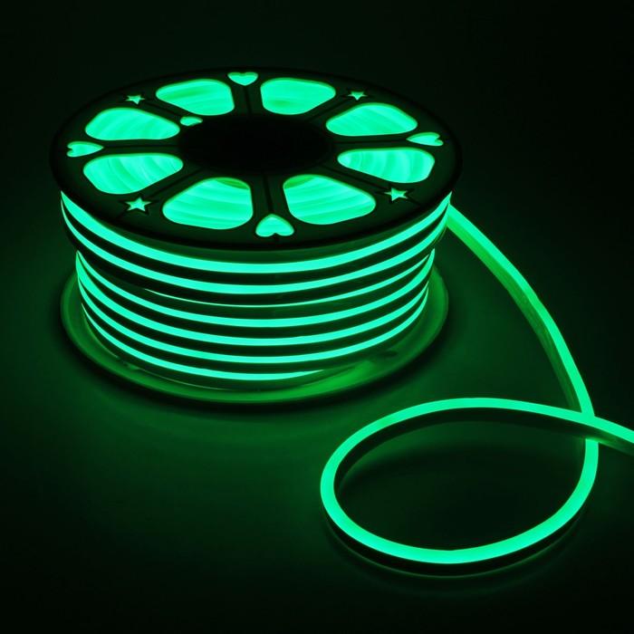 Гибкий неон, 8х16 мм, 50 м, LED/м-120-SMD2835-24V, ЗЕЛЕНЫЙ