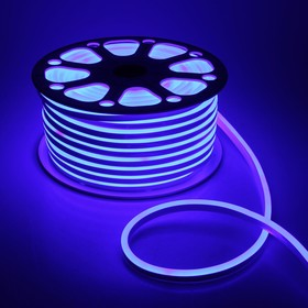 Flexible neon light 8 x 16 mm, 50 meters, LED-120-a SMD2835, 24 V, BLUE