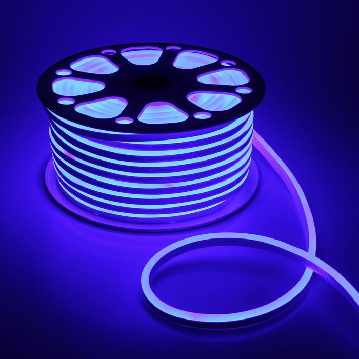 Гибкий неон 8 х 16 мм, 50 метров, LED-120-SMD2835, 24 V, СИНИЙ