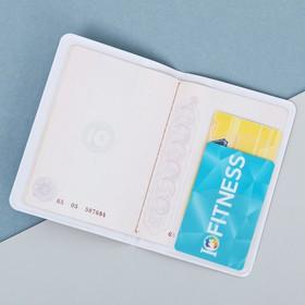 Дорожный набор «Наслаждайся»: обложка на паспорт, бирка на чемодан - фото 4638240