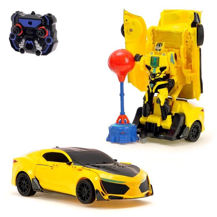"""Робот-трансформер радиоуправляемый """"Автобот"""", с аккумулятором, заряд от USB"""