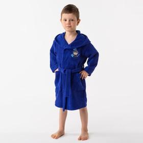 Халат махровый детский Рыцарь, размер 32, цвет синий, 340 г/м² хл. 100% с AIRO - фото 1394972
