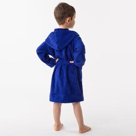 Халат махровый детский Рыцарь, размер 32, цвет синий, 340 г/м² хл. 100% с AIRO - фото 1394973