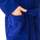 Халат махровый детский Рыцарь, размер 32, цвет синий, 340 г/м² хл. 100% с AIRO - фото 105553074
