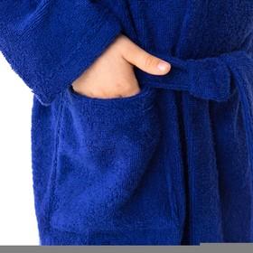 Халат махровый детский Рыцарь, размер 32, цвет синий, 340 г/м² хл. 100% с AIRO - фото 1394974