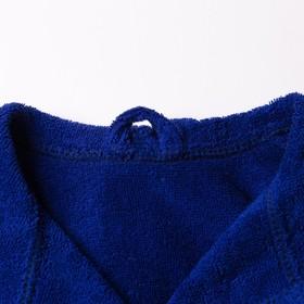 Халат махровый детский Рыцарь, размер 32, цвет синий, 340 г/м² хл. 100% с AIRO - фото 1394975