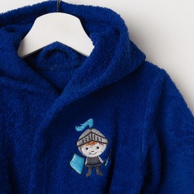 Халат махровый детский Рыцарь, размер 32, цвет синий, 340 г/м² хл. 100% с AIRO - фото 1394976