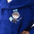 Халат махровый детский Рыцарь, размер 32, цвет синий, 340 г/м² хл. 100% с AIRO - фото 105553077