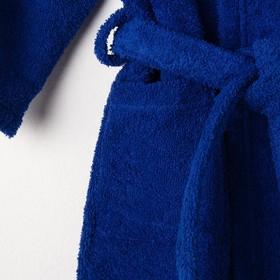 Халат махровый детский Рыцарь, размер 32, цвет синий, 340 г/м² хл. 100% с AIRO - фото 1394978