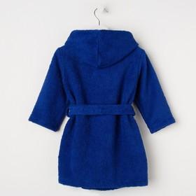 Халат махровый детский Рыцарь, размер 32, цвет синий, 340 г/м² хл. 100% с AIRO - фото 1394979