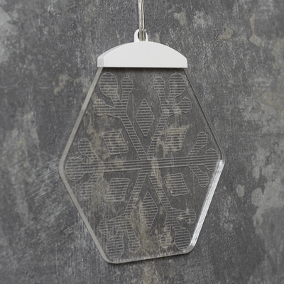 """Световые подвески акрил """"Снежинки"""" 4,5 м, 10 шт х 2 LED. 220V"""