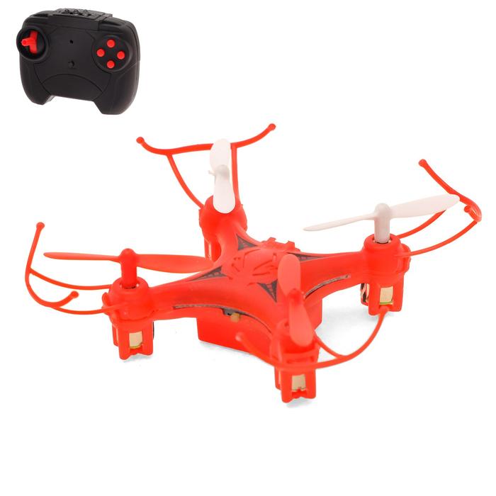 Квадрокоптер радиоуправляемый DH-Q2, работает от аккумулятора, цвет красный - фото 687210077