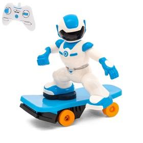 Робот радиоуправляемый «Скейтбордист», световые и звуковые эффекты, работает от батареек Ош