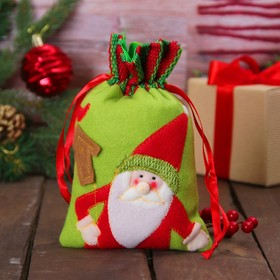 "The bag of gifts ""Santa and birdhouse"""