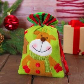 Мешочек для подарков «Оленёнок и скворечник»