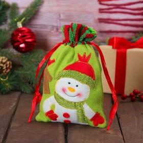 Мешочек для подарков «Снеговик и скворечник»