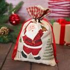 Мешочек для подарков «Дед Мороз с колокольчиком»