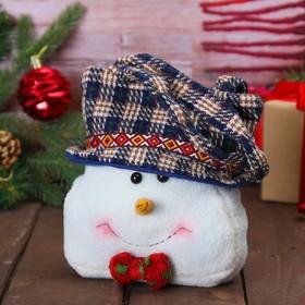 Сумочка для подарков «Снеговик», бабочка в горошек