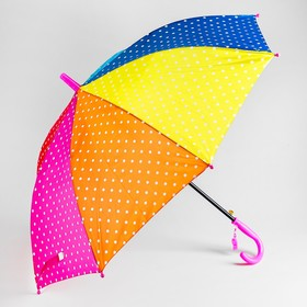"""Зонт детский """"Горошек"""", r= 50 см, длина трости: 67 см"""