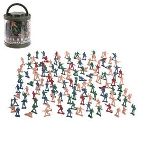 Набор «Бравая армия», 130 солдатиков, МИКС