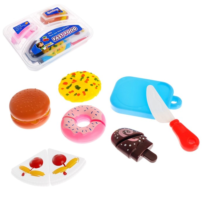 Набор продуктов в ланч боксе «Возьми с собой», 7 предметов, МИКС - фото 105579439