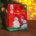 """Елочное украшение под раскраску """"Снеговик в шарфике"""" с подвесом, краска 3 цв по 2 мл, кисть"""