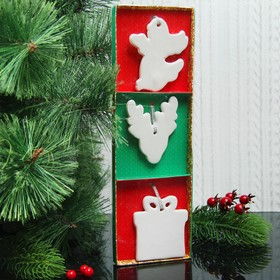"""A set of Christmas pendants under coloring 3 PCs """"a Holiday on the threshold of"""" suspension"""